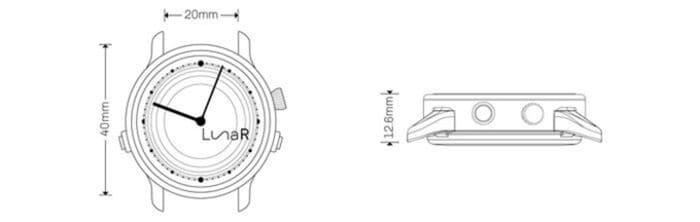 Lunar 首款 太陽能充電 智能手錶2