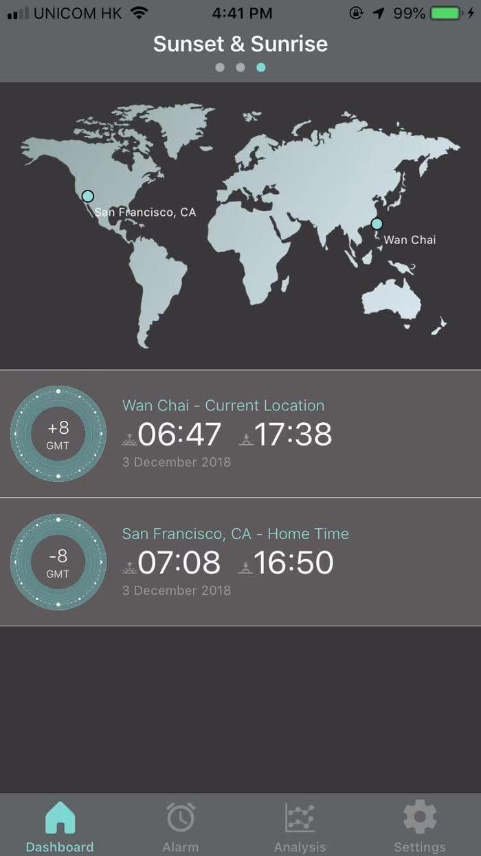 dual time and sunrise & sunsetLunar 首款 太陽能充電 智能手錶