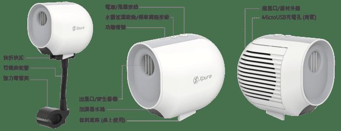 台灣 Xpure 便攜3合1 空氣淨化機10