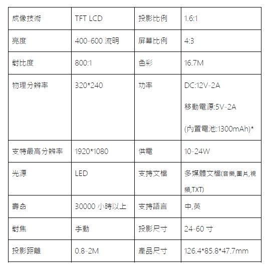 YG300手機大小投影機7