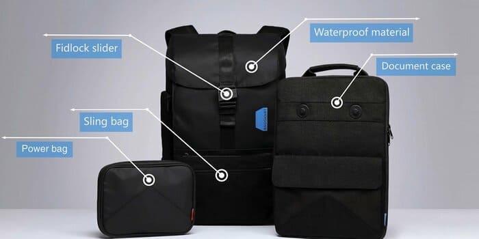 美國 Bagsmart 減重 相機背包15組合B