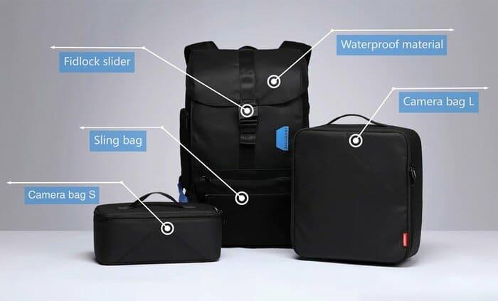 美國 Bagsmart 減重 相機背包15組合P