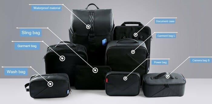 美國 Bagsmart 減重 相機背包16組合XBP