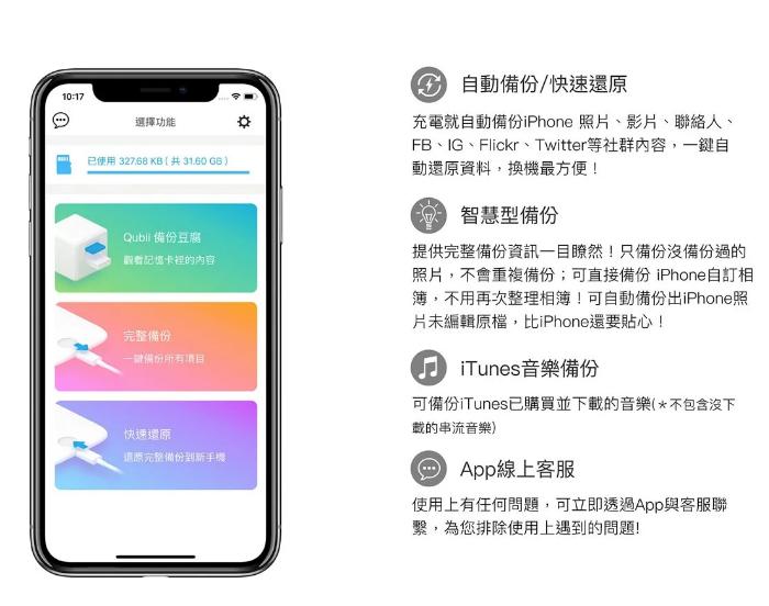Qubii Pro 專業版手機備份豆腐29