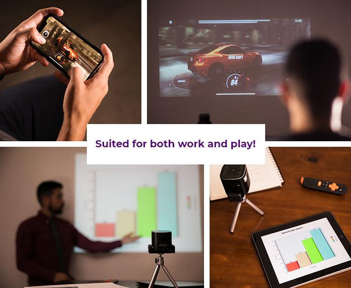 美國 PIQO 極細 1080p HD智能投影機 application