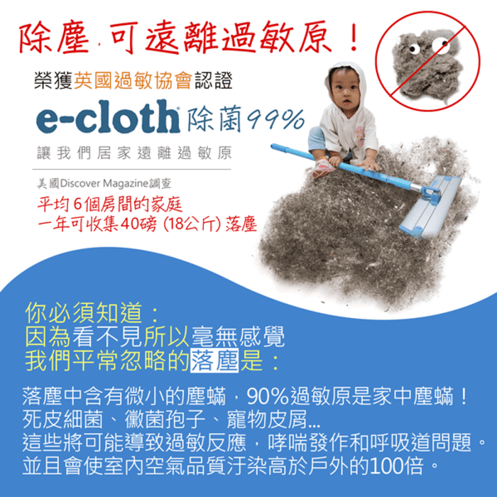 英國 e-cloth 只需清水 萬用清潔拖把29