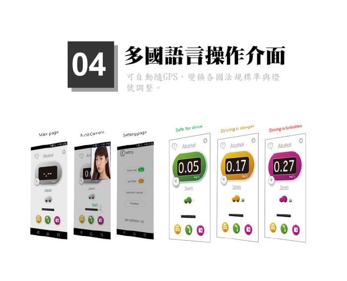 台灣 CareExpert 藍芽呼氣 酒測器10