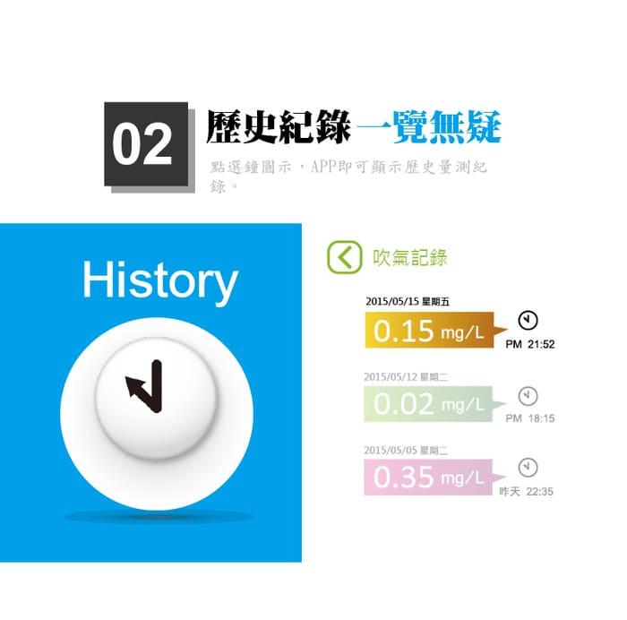 台灣 CareExpert 藍芽呼氣 酒測器7