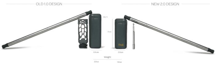 美國 FinalStraw2.0 不鏽鋼可摺式飲管12