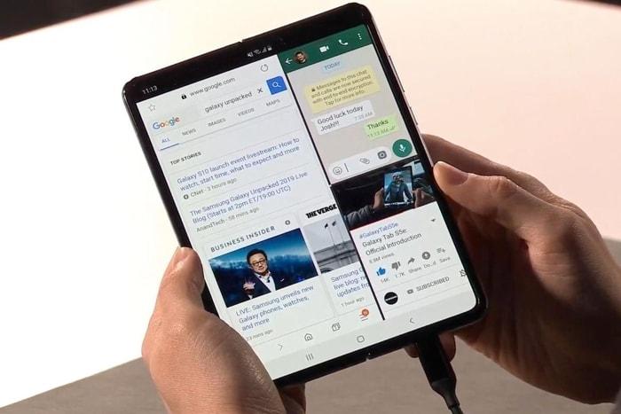 韓國 Galaxy Fold 摺疊式 智能手機10