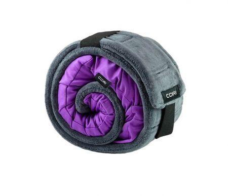 新加坡 CORI 高評分隨身旅行枕頭 紫色