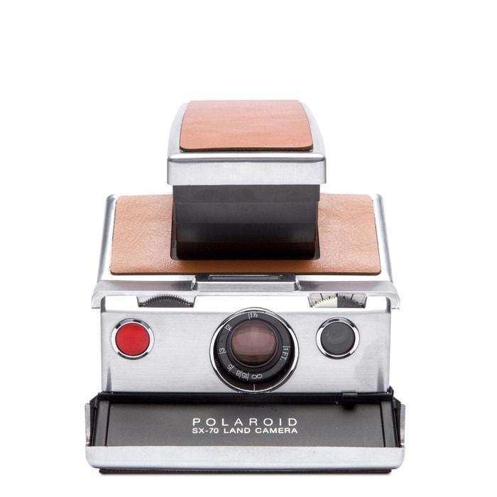 4695_silver_brown1美國 Polaroid™ SX-70系列 即影即有古董相機