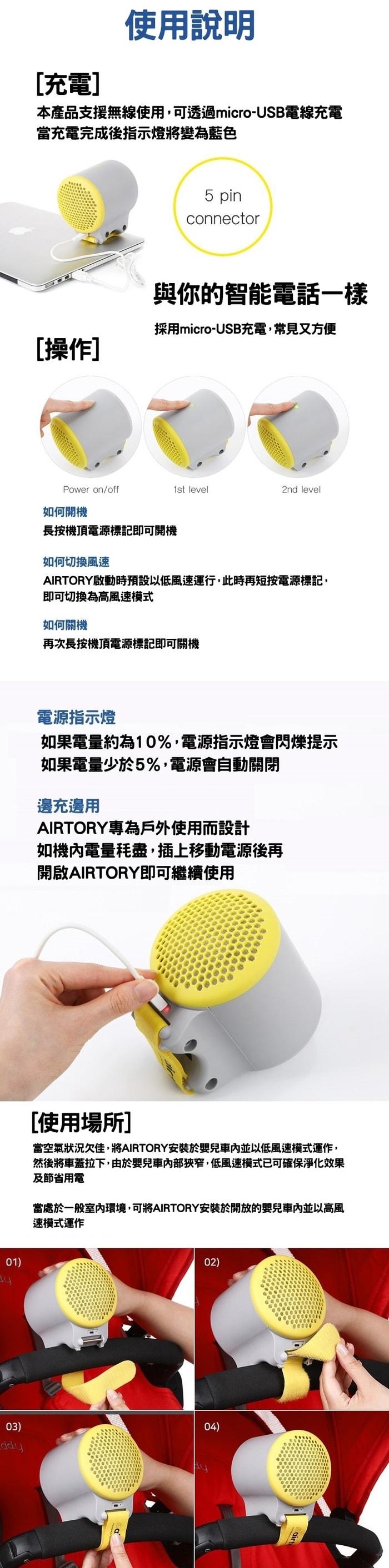 韓國 AIRTORY 便攜式 空氣淨化器15