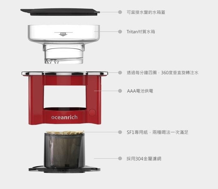 26台灣 Oceanrich 全自動 手沖咖啡機