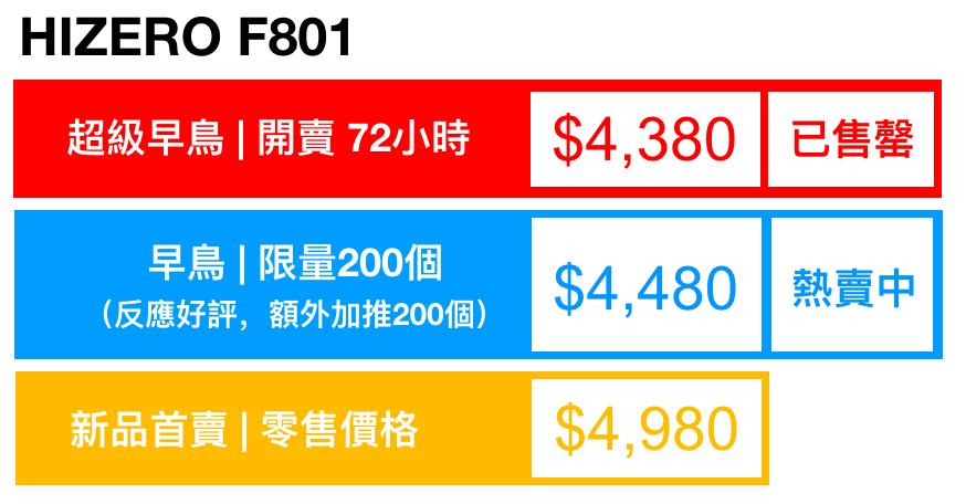 HIZERO_F801_Pricing