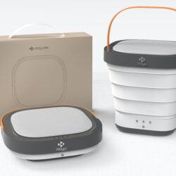 Moyu 折疊式烘乾消毒洗衣機,一個小小迷你洗衣機,做到洗衫、乾衣脫水、和 UV 消毒 3 個功能