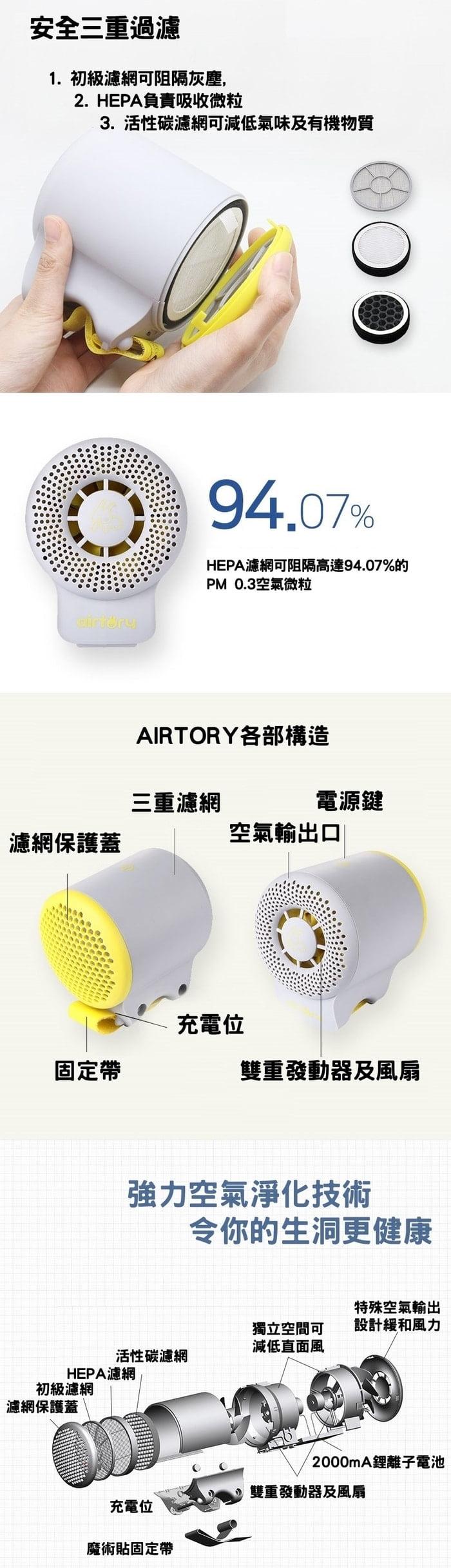 韓國 AIRTORY 便攜式 空氣淨化器16