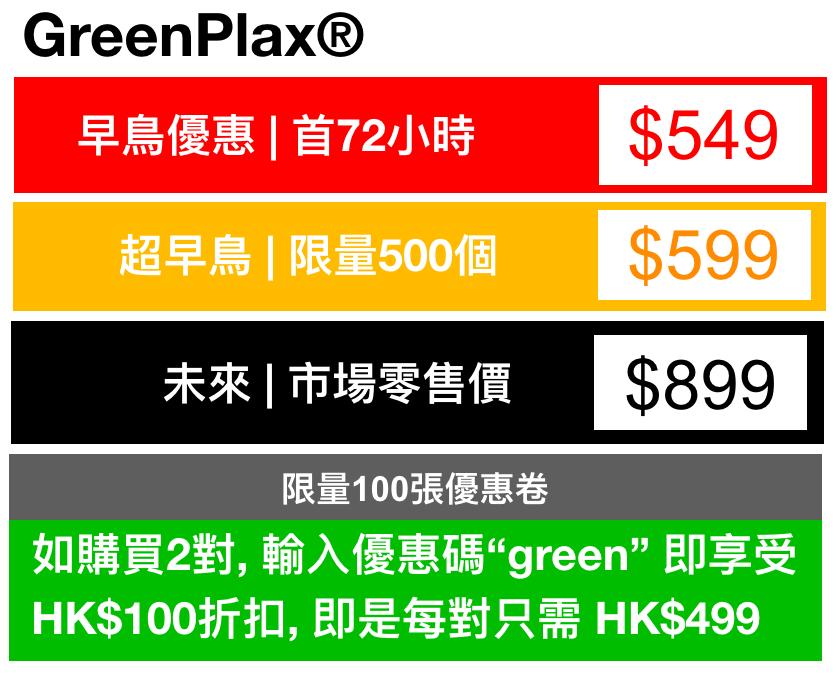 Greenplax pricing