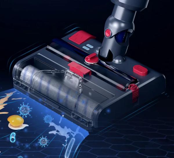洗拖吸消毒一體吸塵機吸頭,一秒令Dyson吸塵機增加拖地、洗地、吸液體、UV消毒功能 !