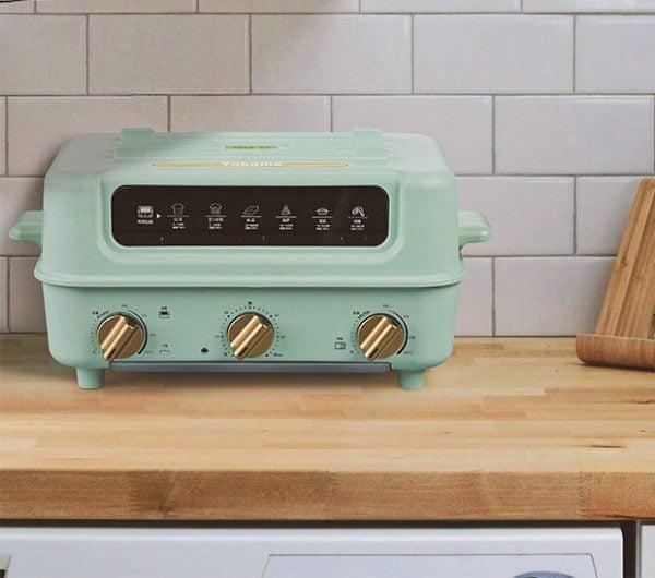 日本Yohome 5合1 折疊煮食焗爐 集合電焗爐/火鍋/炒鍋/平底鍋/燒烤 五種功能於一身,為用家節省收納的空間。