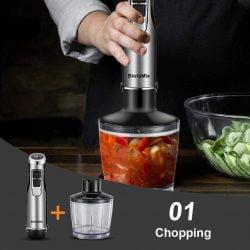 美國 BioloMix 4 in 1 手持攪拌機果汁機絞肉機料理棒套裝 是非常實用的厨房電器,越來越多的家庭開始自己動手來制作兒童輔食、果汁等,可以確保食材原料的新鮮、營養和衛生。