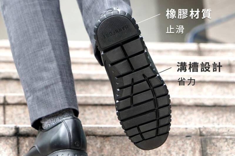 Hannfort 真皮呼吸鞋-止滑橡膠、排水紋理,雨天不濕滑