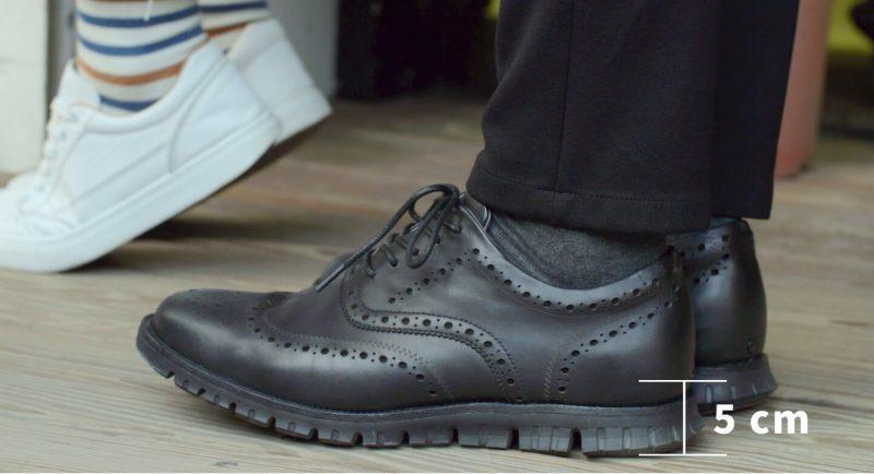 Hannfort 真皮呼吸鞋-外觀有型,鞋墊增高